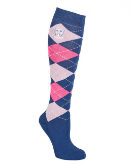Reiterstrümpfe, Socken, Reitersocken, blau, rosa, pink, Frottee verstärkt im Fuss, strapazierfähig