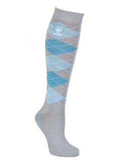 Reiterstrümpfe, Socken, Reitersocken, hellgrau, blau, hellblau, Frottee verstärkt im Fuss, strapazierfähig