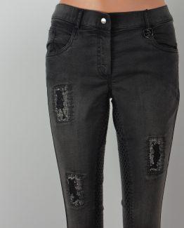 Jeans, Silikonvollbesatz, Gripvollbesatz, Jeansreithose,